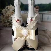 бант на шампанское айвори фото