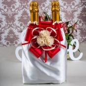 украшение на шампанское красное купить
