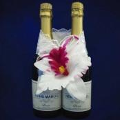 украшение на шампанское с орхидеями купить