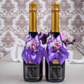 украшние на шампанское сиреневое фото