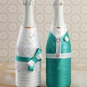 чехлы на свадебное шампанское тиффани купить