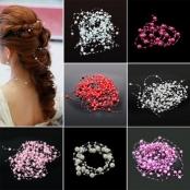 украшения для волос жемчужные нити