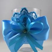 вазочка для свадебного стола бирюзовая купить