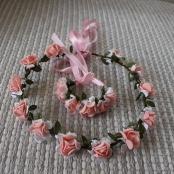 венок из фоамирана персиковый фото