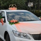 персиковый комплект на машину фото