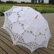 зонт кружевной айвори бежевый купить