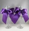 бокалы свадебные фиолетовые фото