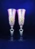 свадебные бокалы с ручной лепкой фото
