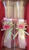свадебные бокалы с лентами розовые фото