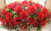 Букет из красных роз на радиаторную решетку 001792