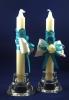 домашний очаг свечи бирюзовые купить