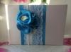 """Книга пожеланий на свадьбу с синим декором ручной работы Коллекция """" Яблоневый цвет"""" 01269"""