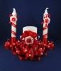 красные свадебные свечи фото