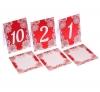 красные номерки на столы свадьба купить