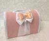 коробка для денег персиковая фото