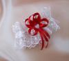 подвязка невесты бело-красная фото