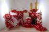 красные свадебные украшения ручной работы фото