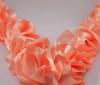 лента персиковая, лента оранжевая