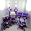 нож и лопатка для торта фиолетовые купить