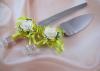 приборы для свадебного торта желтые фото