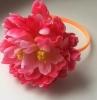 Ободок с пионом: марсала, чайный, розовый, малиновый, белый 001126