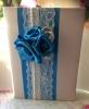 """Папка для свидетельства о браке с синим декором Коллекция """" Яблоневый цвет"""" 01271"""