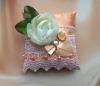 персиковые подушечки под кольца