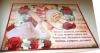 Свадебная гирлянда и плакат в красных тонах лебеди, розы 003028