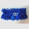 синяя  свадебная подвязка купить