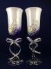 бело-фиолетовые бокалы на свадьбу фото
