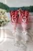 свадебные бокалы красные фото