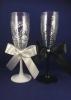 свадебные бокалы жених и невеста недорого фото