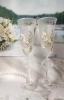 """Свадебные бокалы с ручной росписью белый-айвори """"Голуби"""" 002383"""