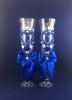 синие свадебные бокалы ручной работы фото