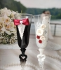 бокалы на свадьбу бордовые фото