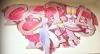 """Свадебный плакат с гирляндой 2,0 м сиренево-розовые """" Совет да любовь!"""" 000425"""