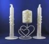 белые свадебные свечи фото
