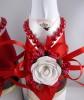 красно-белая свадьба украшения купить