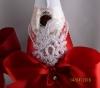 красно-белое украшение на шампанское