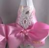 украшения на шампанское в розовое цвете