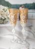 золотые бокалы на свадьбу